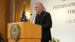 Cardinal Parolin speaking at a Symposium in Rome hosted by the U.S. Embassy to the Holy See  (Courtesy U.S. Embassy to the Holy See)