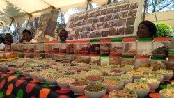 Local foods in Zambia at the National Food and Seed Festival held this Friday in the capital, Lusaka