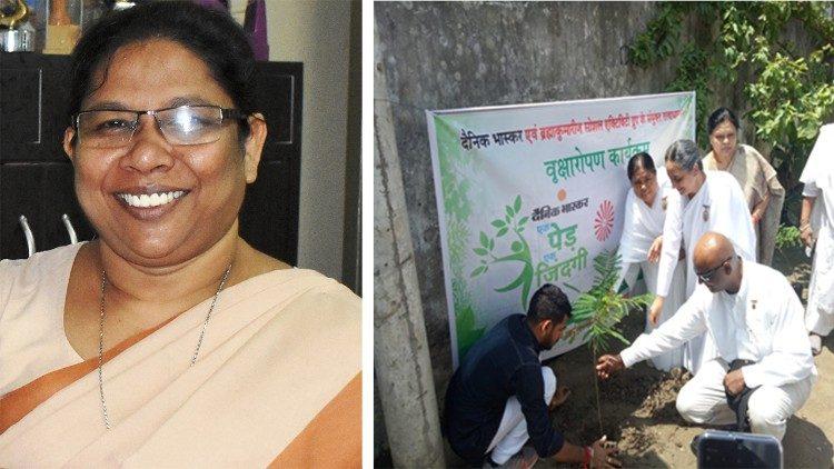 Suor Mary Jyotisha Kannamkal y un encuentro sobre la creación