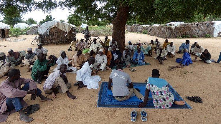 Camp pour des déplacés et refugiés servi par la Caritas du diocèse de Maroua-Mokolo/Cameroun