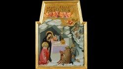 Workshop of Bartolo di Fredi, Adoration of the Shepherds, Tempera on poplar, gilding, 1383-1388, Vatican Museums, Art Gallery © Musei Vaticani