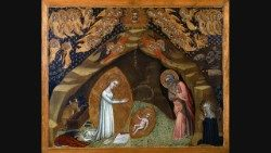 Niccolò di Tommaso, St. Bridget of Sweden's Vision of the Nativity, Tempera on poplar, gilding, after 1372, Vatican Museums, © Musei Vaticani