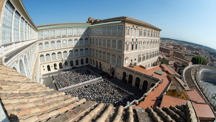 The Courtyard of Saint Damasus in the Vatican