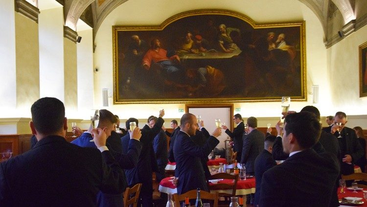 A toast to the martyrs in the cafeteria (photo credit: Edward Hauschild)