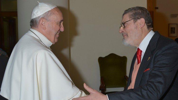 Papež Frančišek in Fabrizio Soccorsi
