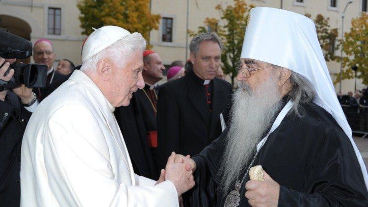 Benedikt XVI. in metropolit Filaret
