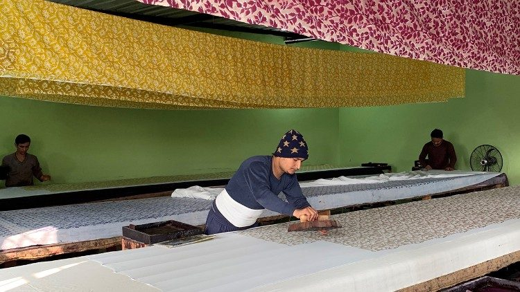 The fabric printing company in Sanganer