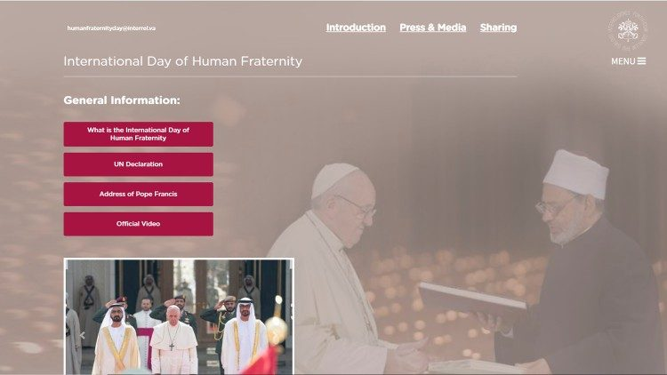 Website dedicated to Human Fraternity Day