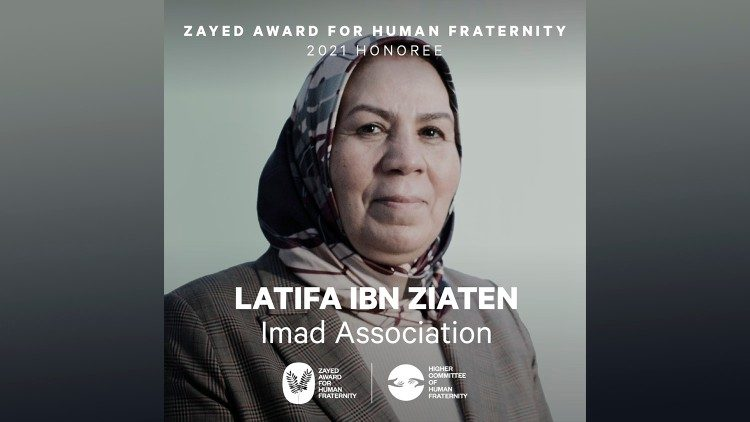 2021.02.03 Latifa Ibn Ziaten, Imad Association, premiata Zayed Award 2021