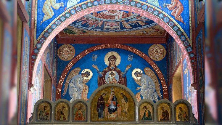 Kongregacija za vzhodne Cerkve, detajl v kapeli