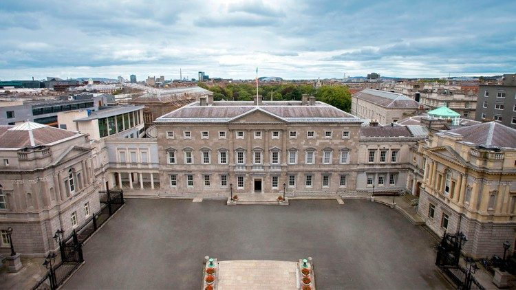 Leinster House, the seat of the Oireachtas, the parliament of Ireland