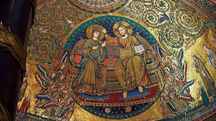 Mosaïque de la basilique Sainte-Marie-Majeure.
