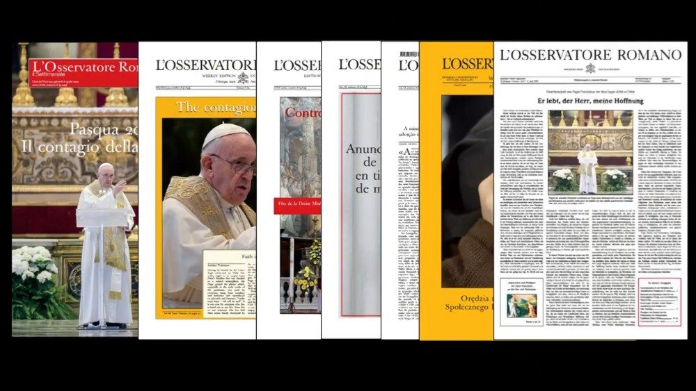 Various language editions of L'Osservatore Romano