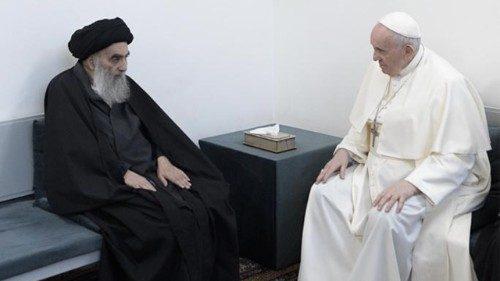 Em Najaf, o histórico encontro do Papa com o Grande Aiatolá Al-Sistani
