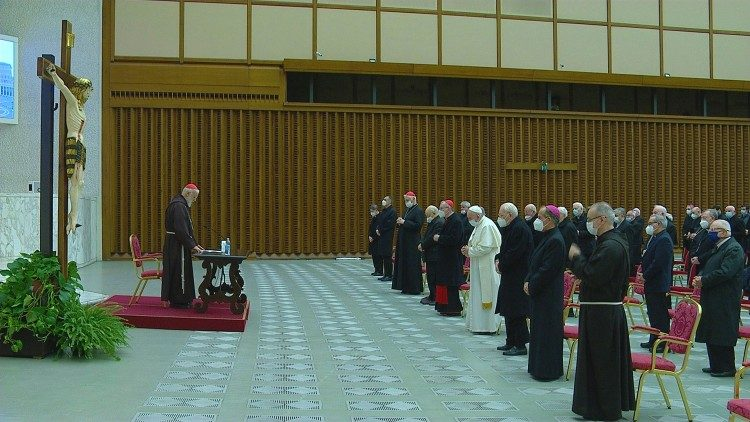 Meditação de Quaresma do frei Cantalamessa com a presença do Papa, 12 de março 2021
