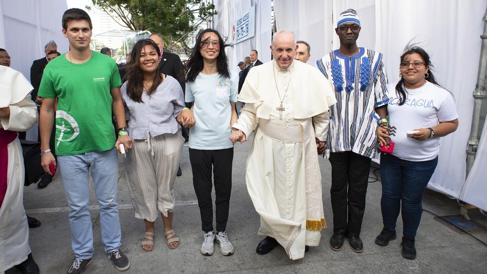 El Papa Francisco y los jóvenes. Jornada Mundial de la Juventud en Panamá 2019