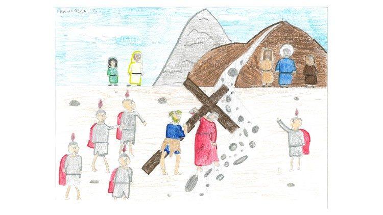 Uno de los dibujos de los pequeños