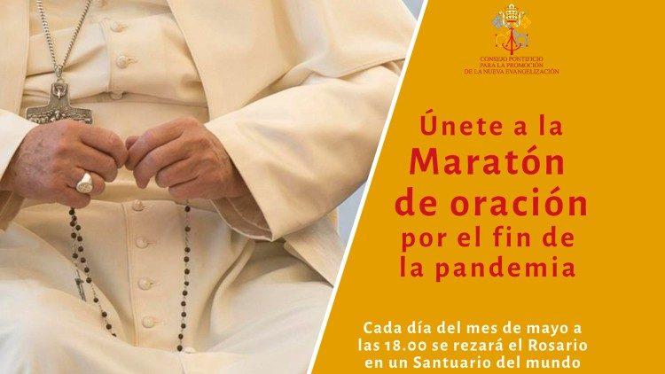 Maratón de oración para invocar el fin de la pandemia, del 1 al 31 de mayo.