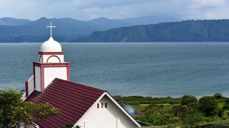 A view of Indonesia's Lake Toba