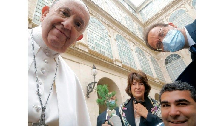 Michael's selfie with the Pope