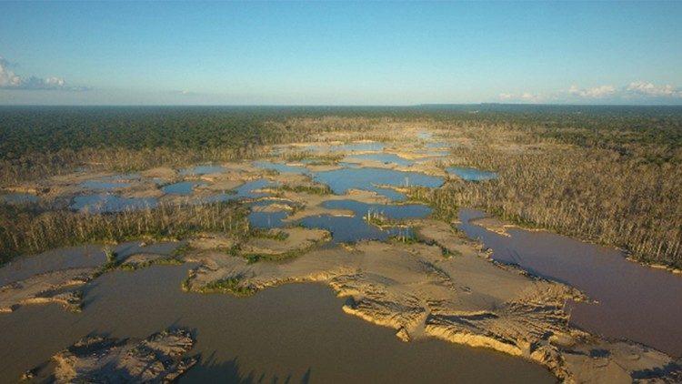 Impacto da mineração nas florestas e na água