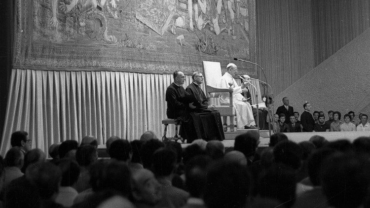 Inauguração da Sala Paulo VI, 30 de junho de 1971
