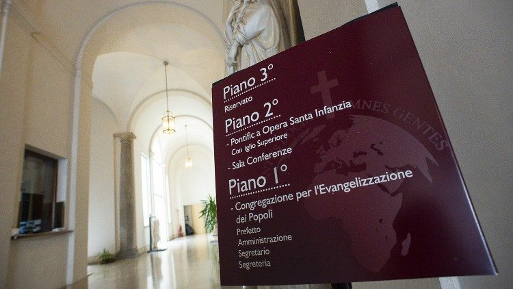 The Congregation for the Evangelization of Peoples - Dicastery entrance hall