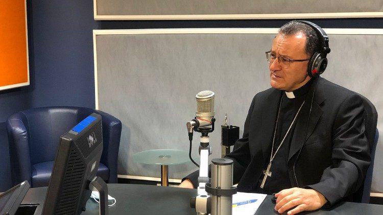 Mgr Joseph Spiteri, nonce apostolique au Liban, dans les locaux de Radio Vatican.
