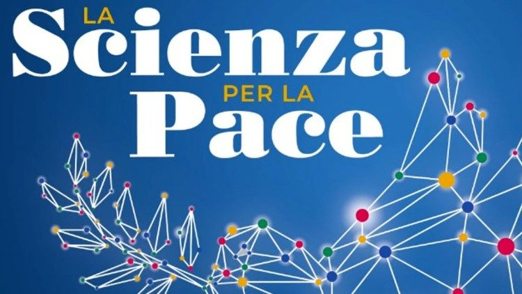 """Logo du colloque """"La Science pour la paix"""", les 2 et 3 juillet 2021 à Teramo dans les Abruzzes italiennes."""