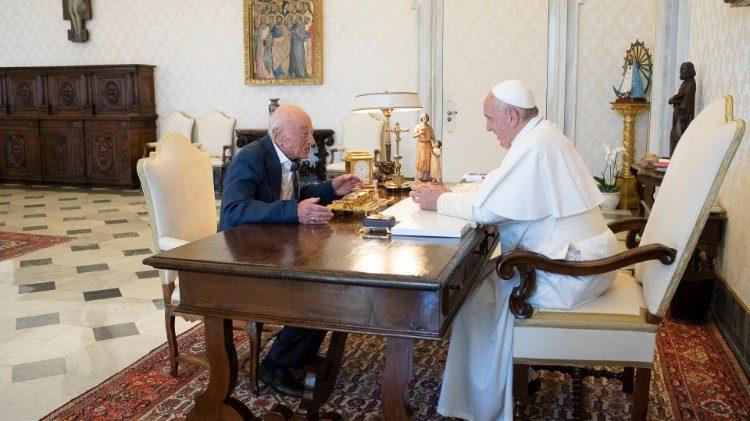 Audiencia en el Vaticano en junio de 2019.