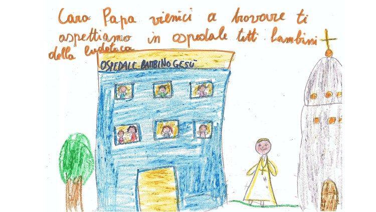 Pesan dari pasien anak-anak kepada Paus Fransiskus.