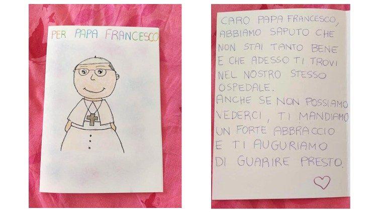 Pesan lain dari pasien anak-anak yang dirawat di rumah sakit untuk Paus.