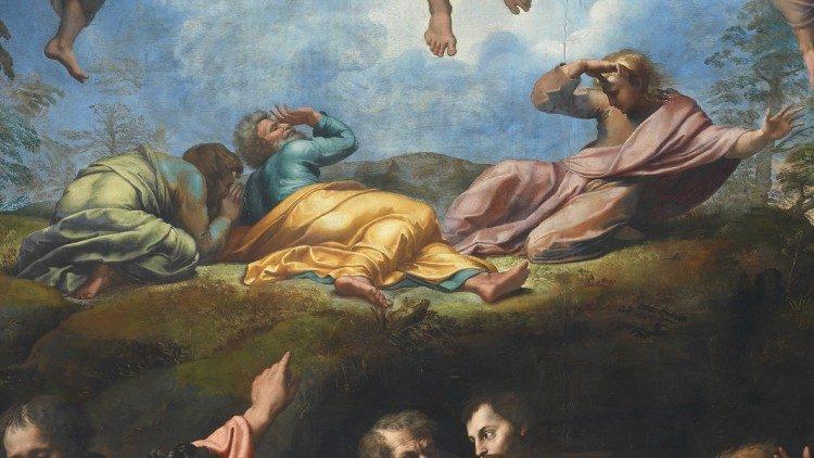 Rafael Sânzio (1483-1520), A Transfiguração, têmpera sobre madeira, 1516-20, Museus do Vaticano, Pinacoteca © Musei Vaticani