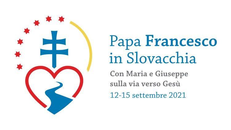Logo du voyage apostolique en Slovaquie du 12 au 15 septembre 2021.