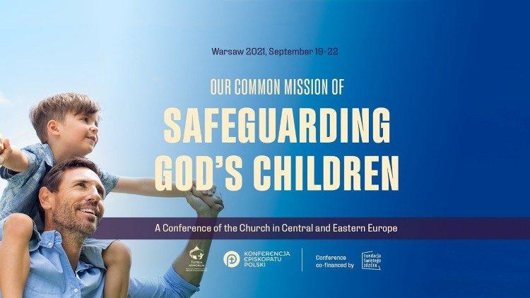Le logo de la conférence de Varsovie sur la protection des mineurs.