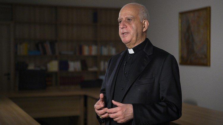 New Evangelization: Archbishop Fisichella during his interview with Vatican Media