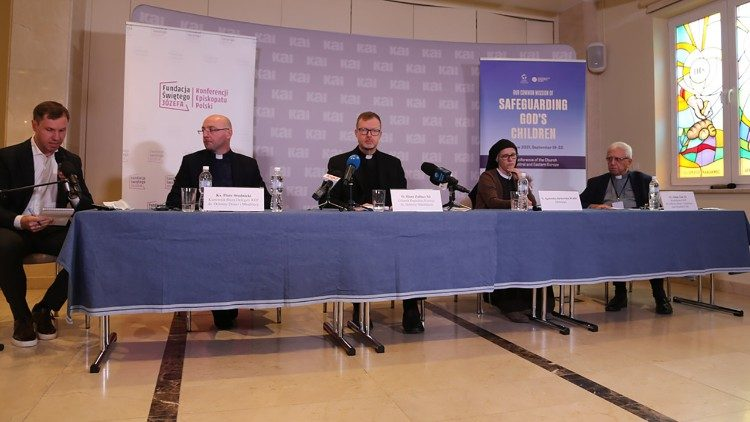 Fr. Zak (R) at the Warsaw conference