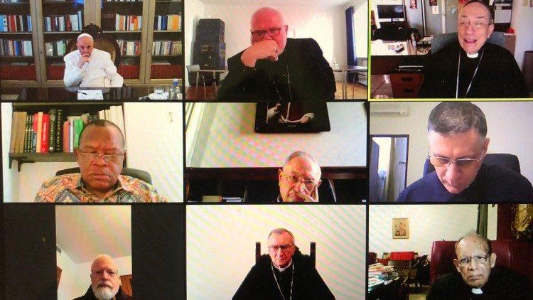 El Consejo de Cardenales en la conferencia online