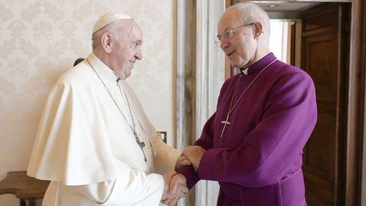 Archbishop Welby met with the Pope on Tuesday