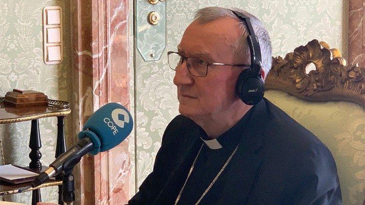 Cardinal Pietro Parolin, Vatican Secretary of State, interviewed by COPE Radio
