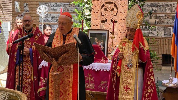 Sandri, durante la misa
