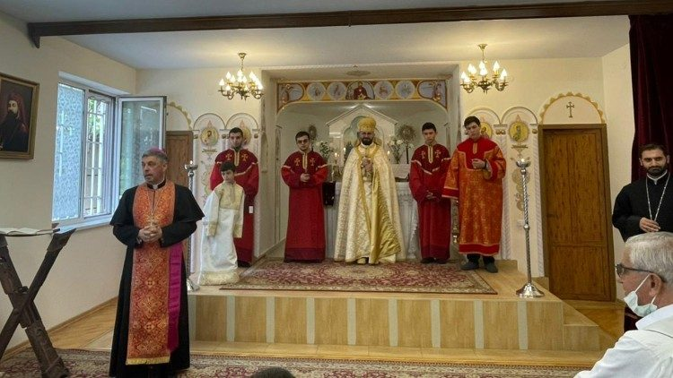 The blessing ceremony was held at the end of Sunday's Divine Liturgy
